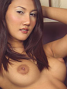 Extreme puffy and pointy nipples on thai babe Bua
